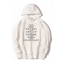 Popular Letter Printed Long Sleeve Unisex Boxy Pullover Hoodie