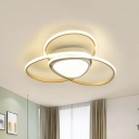 Nordic LED Flush Mount Lamp with Acrylic Shade 18