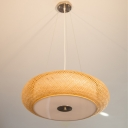 Knitted Round Hanging Light 3 Lights 16
