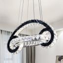 Car Shaped Chandelier Lighting Fixture LED Crystal Modern Style Hanging Lamp Kit for Living Room
