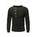 Mens Unique Long Sleeve Waffle Knit Toggle Hooded Sweater Casual Fitted Hoodie