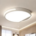 Round Ceiling Flushmount Simplicity Metal 1 Light 16
