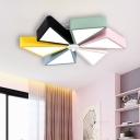 Windmill Flush Mount Lamp Modern Style Acrylic 19.5