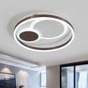 Coffee Orbit Ceiling Flush Light 16