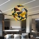 Camouflage Spherical Ceiling Pendant Light Metallic Industrial Multi Light Living Room Lighting Fixture