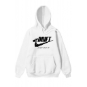 Unisex Fashion Long Sleeve Letter JUST DO IT DRIFT Printed Hoodie