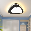 Black Penguin Ceiling Flush Mount Cartoon 16