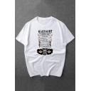 Womens Exclusive Letter A LITTLE BIT Printed Short Sleeves White Graphic T-Shirt