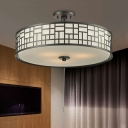 4/3 Lights Circular Semi Flush Mount 16