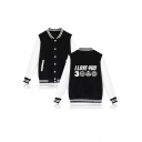 Popular Letter I LOVE YOU 3000 Print Long Sleeve Single Breasted Varsity Baseball Jacket