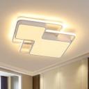 Silica Gel Geometric LED Flush Mount Lamp 18