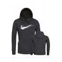 New Arrival Creative Just Do It Logo Pattern Long Sleeve Thick Sport Hoodie