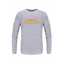 Creative Fire Letter I'M NOT OKAY Printed Long Sleeve Thick Pullover Sweatshirt