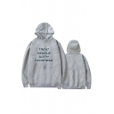 Letter TREAT PEOPLE WITH KINDNESS Printed Long Sleeve Unisex Boxy Hoodie
