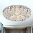Clear Crystal Ball Dome Ceiling Light Fixture Modern 19.5