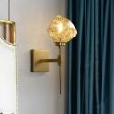 Irregular Shade Wall Light Sconce Modernist Amber/Smoke Gray Glass 1 Bulb Living Room Sconce Lamp