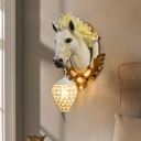 Ice Cream Metal and Crystal Wall Sconce Light Vintage 1 Light 10