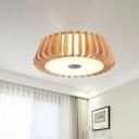 Nordic Style Circular Flush Lighting 3 Bulbs 19.5