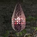 Teardrop Pendant Light Bohemia Metal 1 Light Ceiling Lamp Pendant in Antique Bronze/Copper for Bar