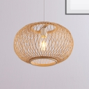 Bamboo Globe Pendant Lighting Asian Style 16