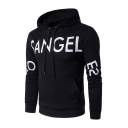 Popular Letter Printed Long Sleeve Pouch Pocket Casual Sports Hoodie for Men