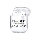 Hot Letter I'LL BE THERE FOR YOU Coffee CENTRAL PERK Printed Earphone Protective Cover