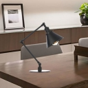 Black/Brass Finish Tapered Table Lighting Industrial Stylish 1 Light Metallic Table Lamp for Bedroom