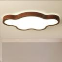 Acrylic Cloud Flush Mount Lamp Modernist 19.5