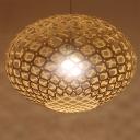 Wooden Globe Pendant Light Nordic Style 1 Head 16
