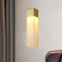 Gold LED Flush Mount Colonialism Resin Rectangle Wall Light Fixture for Bathroom