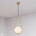 Nordic Waterdrop Pendant Lamp Black/Brass/Gold Metal 1 Light 7