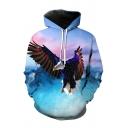 3D Eagle Printed Long Sleeve Hoodie