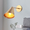 Gold Finish 1 Light Wall Light Simplicity Iron Beveled Conical Wall Lighting Ideas