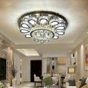 Flower Living Room Flushmount Light Modern Crystal 18