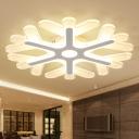 Slim Acrylic Coral Flush Ceiling Light 16