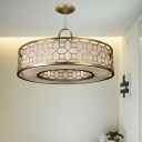 Brass Drum Shape Chandelier 16
