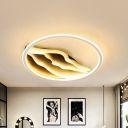 Black and White Wavy Ceiling Flush Mount 16