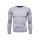 Mens New Leisure Plain Long Sleeve V Neck Slim Fit Pullover Sweater Knitwear