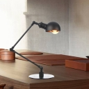 1 Light Dining Room Table Lighting Industrial Style Black/Brass Finish 4