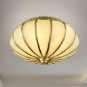 Lantern Flush Mount Vintage Milky Glass 14
