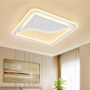 Modernist Curved Square/Rectangular Ceiling Lamp 19