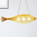 Chinese Style Fish Pendant Lamp 3 Light 12