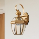 Jar Sconce Lighting Vintage Metal 1 Head Brass Wall Lamp Fixture for Living Room