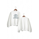 Unisex Letter TREAT PEOPLE WITH KINDNESS Print Loose Fit Pullover Sweatshirt