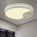Drum Ceiling Lamp Minimalist Acrylic Gray 19.5