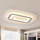 Minimalist Ultra Thin Ceiling Flush Mount Acrylic White Integrated Led Flush Lighting in Warm/White, 23.5