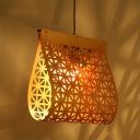 Folded Hanging Light Nordic Style 1 Light Wooden Ceiling Pendant Light for Living Room