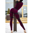 Plain Cool Short Sleeve Mock Neck Zipper Down Leather Patched Long Stretchy Tight Jumpsuit for Ladies