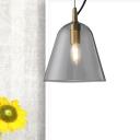 Bell Hanging Ceiling Light Modern Clear Glass 1 Light Brass Pendant Lamp for Bathroom