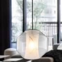 Lantern Dining Room Pendant Light Modern White Glass 1 Head Hanging Lamp in White Light, 8